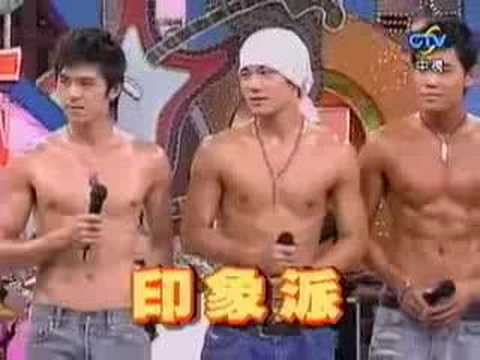 Six Hot Male Model Dancing