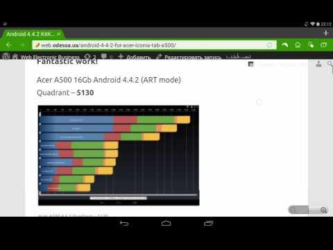 Kitkat 4.4.2 - Lollipop 5.0.2 ROM for Acer A500 - Nice work!