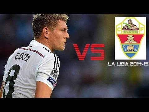 Toni Kroos vs Elche | Real Madrid vs Elche 5-1 | La Liga 2014/15 (H)