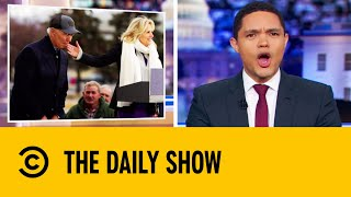 Biden Nibbles On His Wife's Fingers In Bizarre Campaign Moment | The Daily Show With Trevor Noah