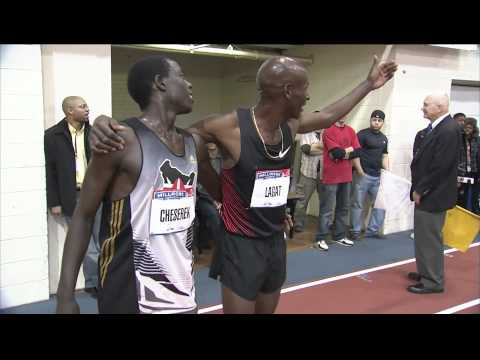 Bernard Lagat Victory Lap - Millrose Games 2012