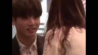 Jungkook and girlfriend