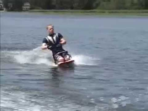 Kneeboarding, to the extreme...in reverse!