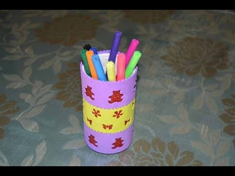 Porta lápices con lata reciclada. Manualidades