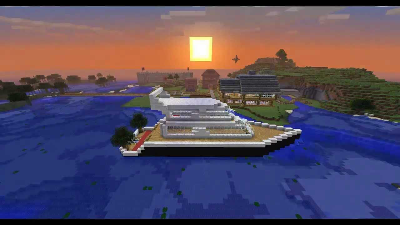 Minecraft modern yacht boat youtube