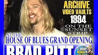 Brad Pitt at HOB Opening with Long Blonde Hair 1994