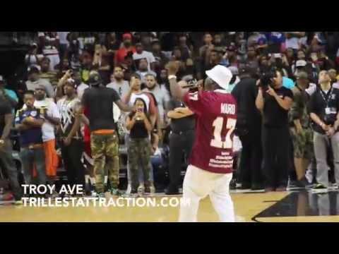 Big Sean, Fabolous & Troy Ave At EBC Game