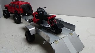 Rc trailer with suspension build.