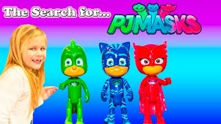 PJ MASKS  Search For PJ Masks with Blaze and Paw Patrol Video  Adventure