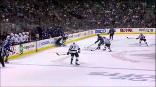 Mike Richards hit on Alexandre Burrows. Los Angeles Kings vs Vancouver Canucks 4/11/12 NHL Hockey