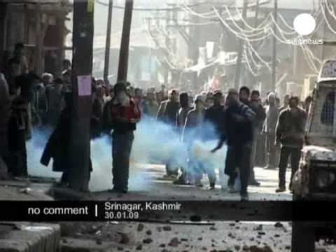 Protests in Srinagar, India Kashmir