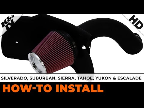 Performance Air Intake Installation for Silverado. Suburban. Sierra. Tahoe. Yukon and Escalade