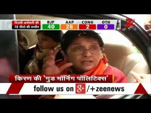 Kiran Bedi campaigns for Delhi polls