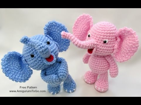 Youtube Crocheting : Crochet Along Elephant - YouTube