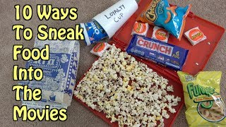 10 Ways To Sneak Food Into The Movie Theater- LIFE HACKS THAT WORK | Nextraker
