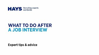 What to do after a job interview
