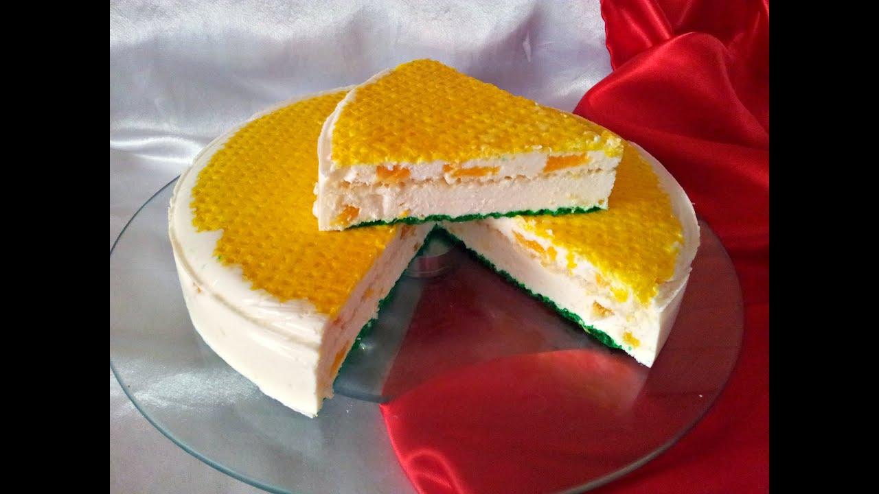 Торт творожное суфле без выпечки рецепт