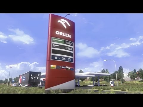 Central Europe Gas stations in ETS2