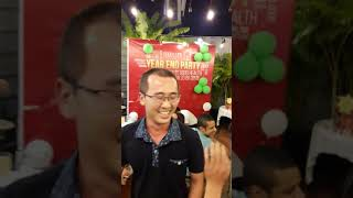 ACOM HCM game show at year end party 2017