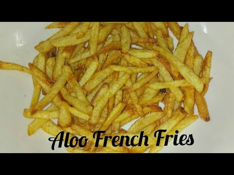 Aloo French Fries l Homemade French Fries l Crispy French Fries l Potato Chips at home in Telugu