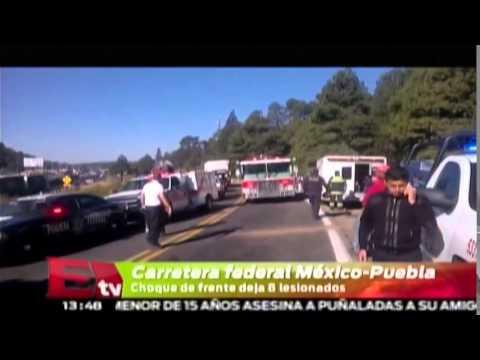 Accidente carretero en la México-Puebla deja ocho lesionados/ Comunidad