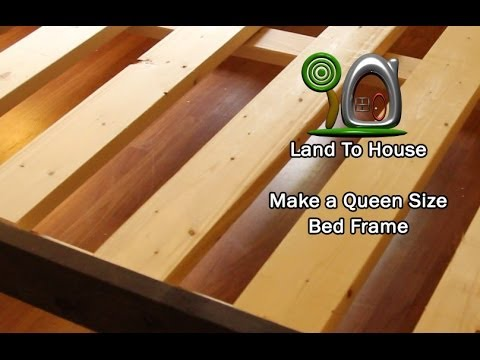 Diy Queen Size Bed Frame Youtube