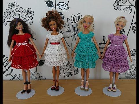 Платье вязаное для куклы своими руками очень легкий способ 75
