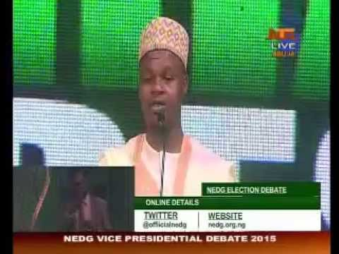 2015 Elections: Vice Presidential Public Debate By NEDG (1st Session)