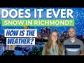 Does It Snow In Richmond VA?   How Is The Weather In Richmond Virginia?   Richmond VA Weather