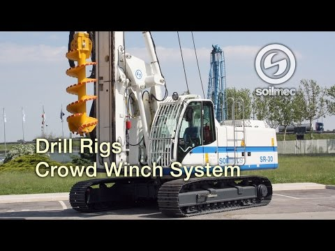 Soilmec SR 30 Drill Rigs CWS [Crowd Winch System]