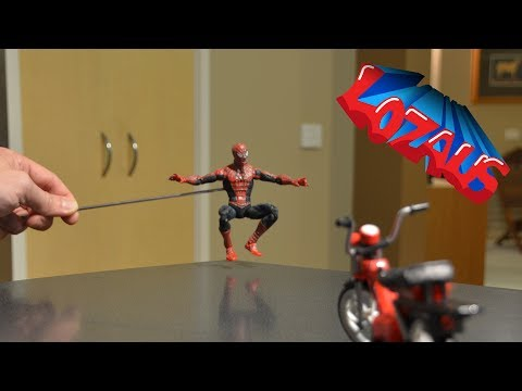 SPIDERMAN STOP MOTION TUTORIAL STEP 1