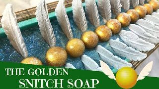 Making of The Golden Snitch Cold Process Soap | GYPSYFAE CREATIONS