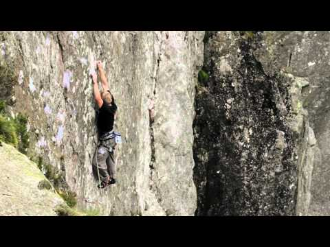 Adam Hocking climbs The Keswickian E8 7a (5.13C) Gowther Crag.mov