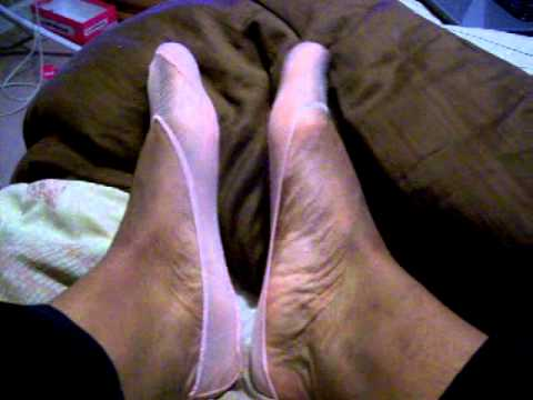 pink sheer ped footie