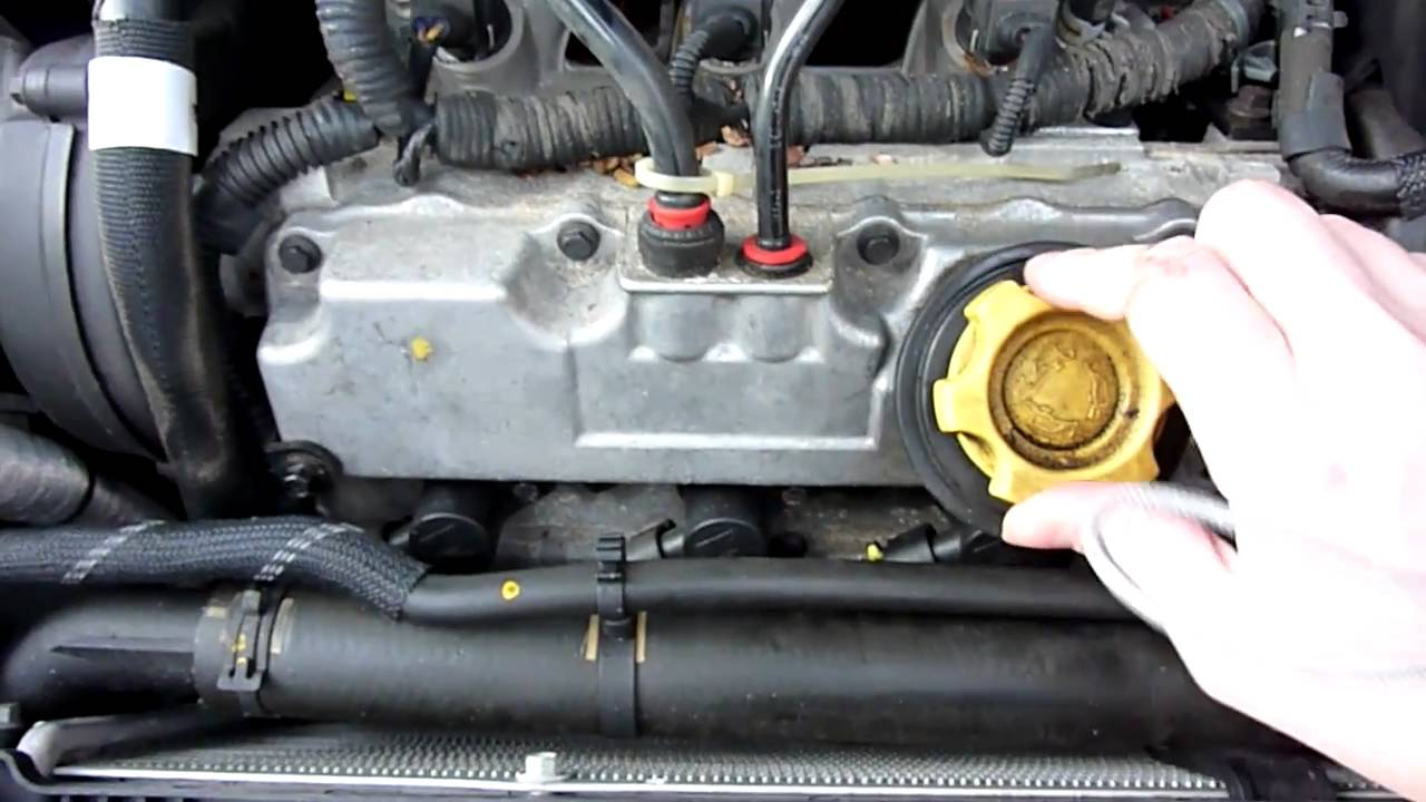Checking For Leaked Coolant In The V Of The Engine Of My