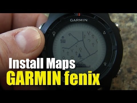 Garmin fenix / tactix -  How To Install Maps