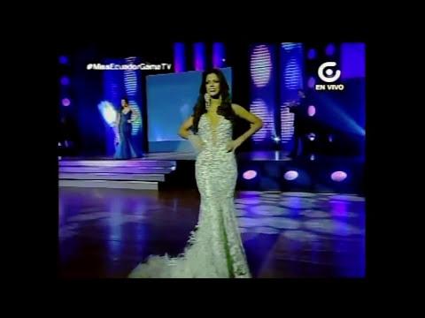 Miss Ecuador 2014 Parte 4 Desfile en traje de Gala