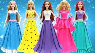 Play Doh Dresses L.O.L. Surprise Doll - Disney Princess Rapunzel and Barbie Dolls