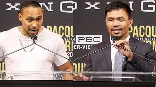 PACQUIAO VS THRUMAN - FULL KICK OFF PRESS CONFERENCE & FACE OFF VIDEO