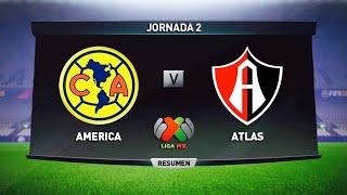 AMERICA vs ATLAS Jornada 2 LIGA MX Apertura 2018