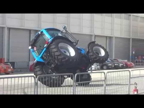 Tractor Stunt On 2 Wheels - Video video