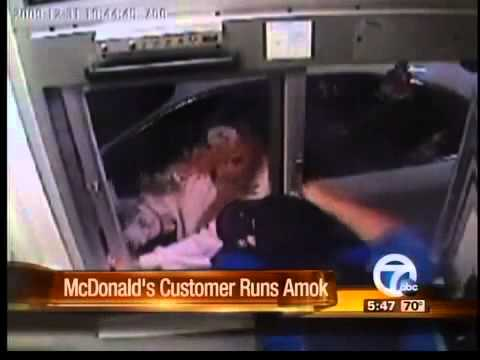 McDonald's Nugget Attack BY CRAZY WOMEN Video