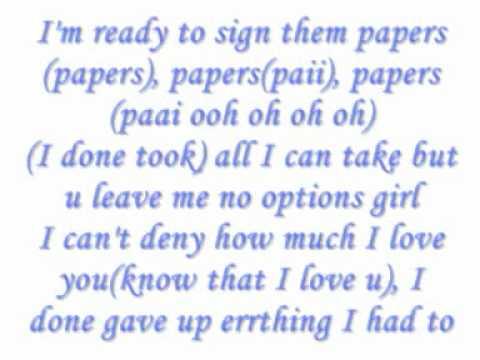 Usher - Papers  Lyrics