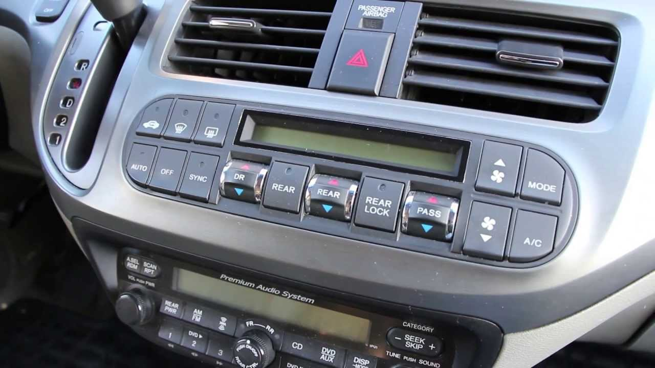 Fix Honda Odyssey Climate Control Lights Dash Youtube