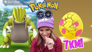 CAN I CATCH A SHINY GROUDON? + Hatching 7km Eggs in Pokemon Go! Hoenn Event Vlog