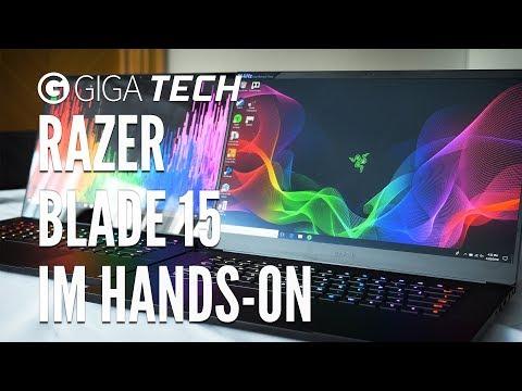 Razer Blade 15 im Hands-On (deutsch): Gaming-Notebook angeschaut - GIGA.DE