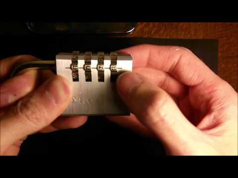 (6) Lock Picking - Master 7640D Combination Lock With No Tools