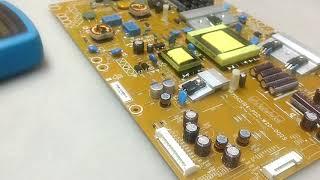 TV Philips 39PFL4707G/78 não funciona, fonte com tensão BAIXA!