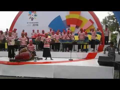 Musik tradisional Ul-Daul RAMPAK NAONG asal pamekasan jadi pembuka Asean Game 2018