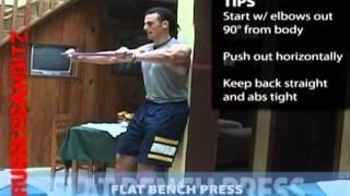 Rubberbanditz Flat Bench Press - Chest Exercise